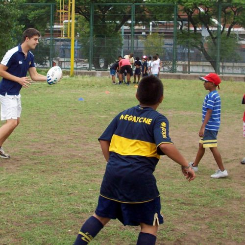 Coach Rugby to Kids in Argentina