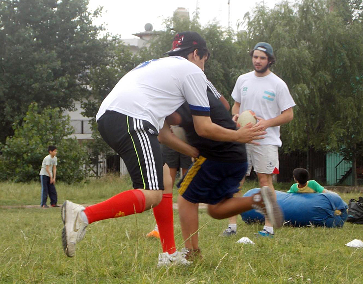 Rugby Training with Pads Argentina