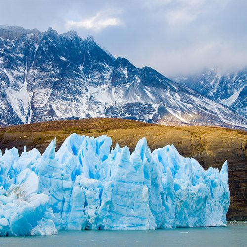 Glacier in South America