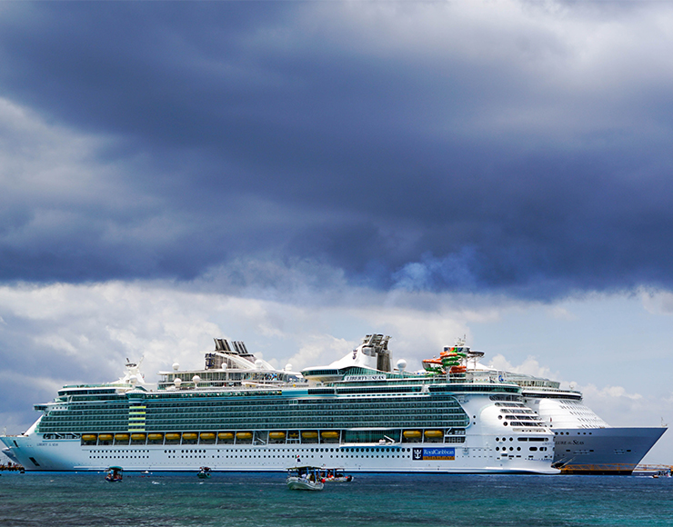 Cruise Ship in St Lucia