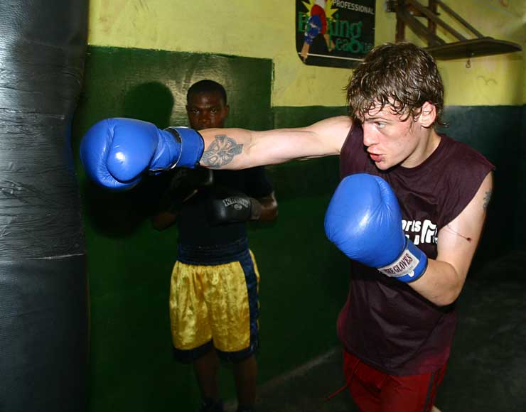 Lee Steggles: Boxing and Fitness Training in Ghana