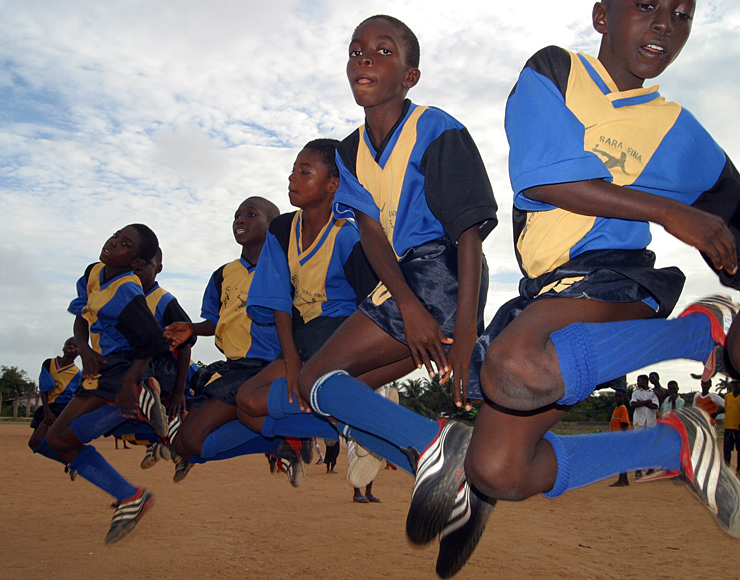 Young Ghanaian Footballers