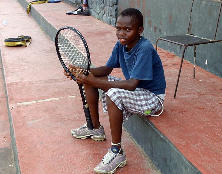 Teach Tennis to Kids in Ghana