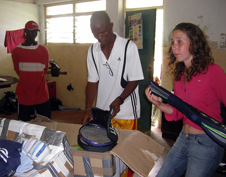 Africa Tennis Equipment Donation