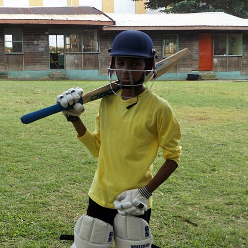 Young Cricket Player St Lucia