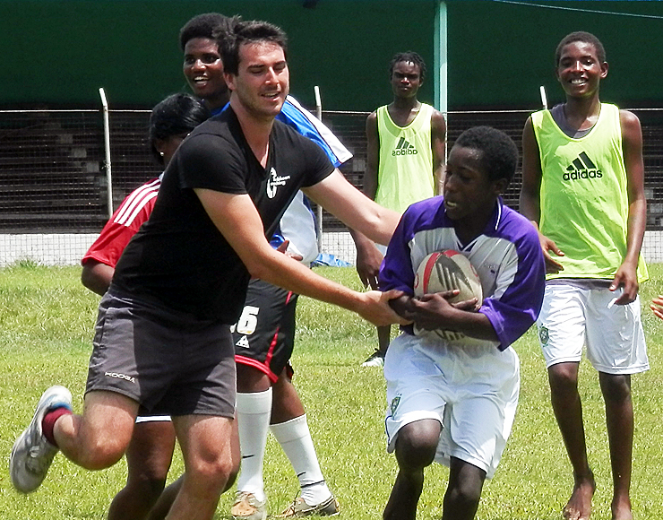 Michael Huntbach: Rugby Coaching and Playing Project in St Lucia