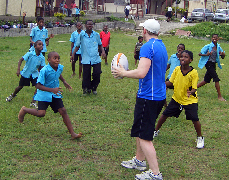 Henry Snow: Rugby Coaching and Playing Project in St Lucia