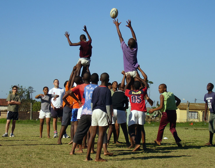 Rugby Line-Out South Africa