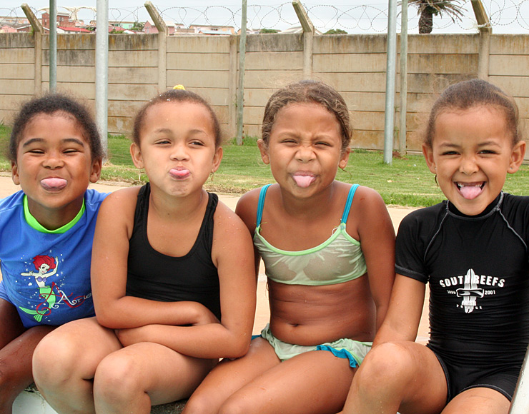 Kids at Swimming Lesson South Africa