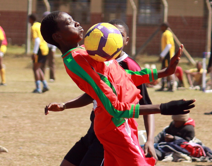 Young South African Footballer