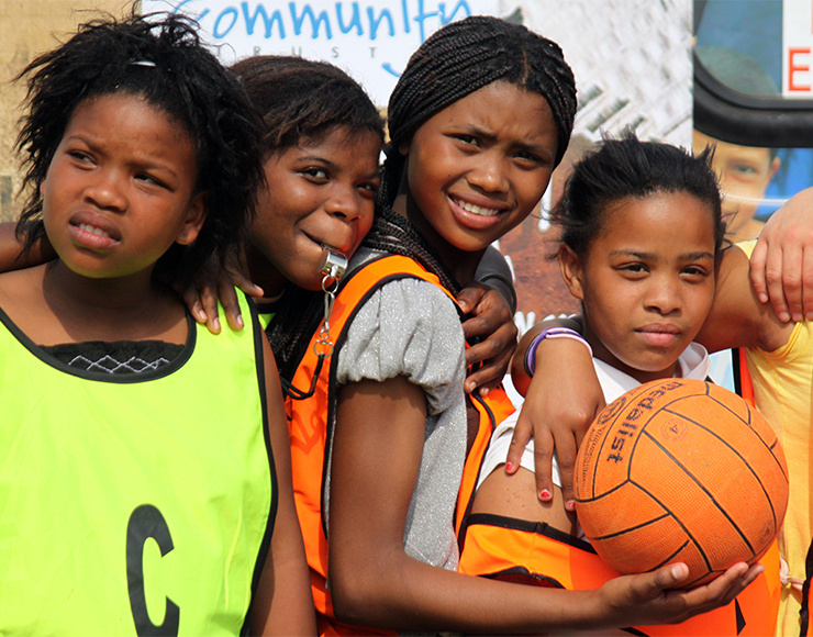 Young Netball Players in South Africa