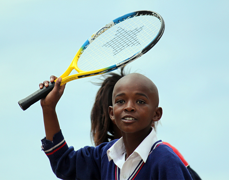 Kid on the South Africa Tennis Project