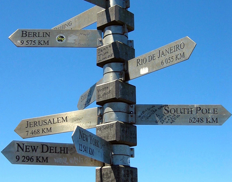 Country Sign Post